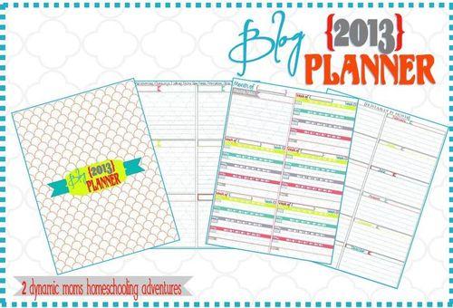 2013 Blog Planner  Collage