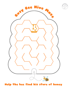 Printable-mazes-for-kids-bee