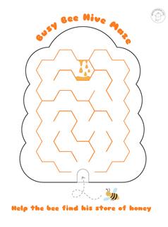 Printable-mazes-for-kids-bee