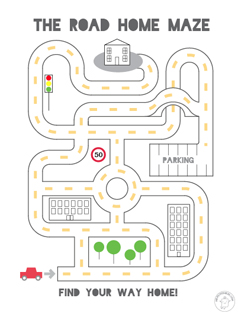 Printable-mazes-for-kids-road