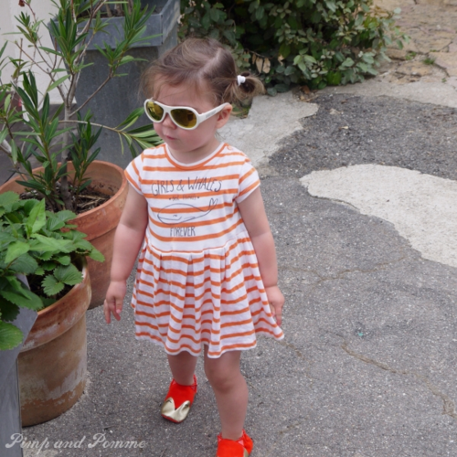 mini look orange renard rayures babiators zara ohmybiche