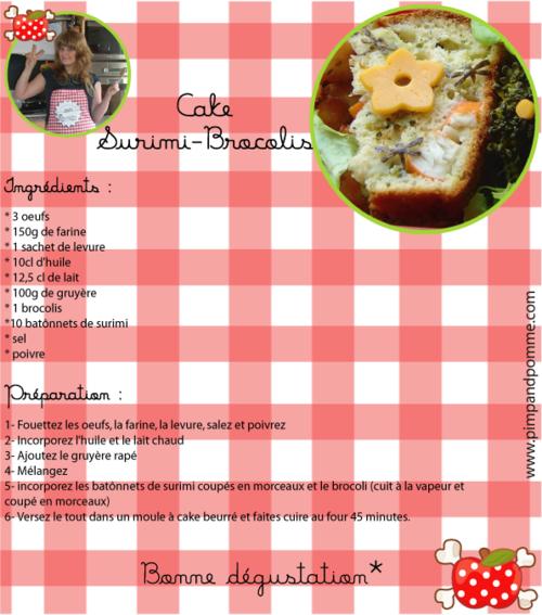 cake surimi brocolis