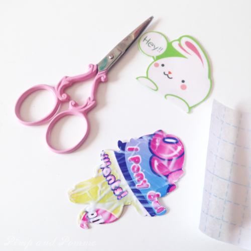 DIY broche papier kawaii