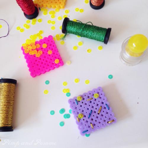 DIY brooch fuse bead