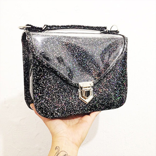 Black-Glitter-Bag-GoldenPonies