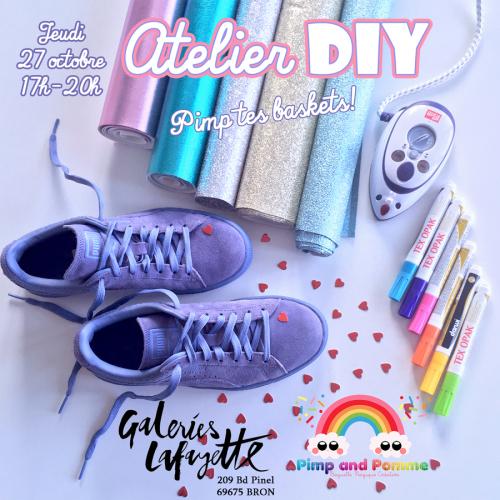 Atelier-DIY-Galeries-Lafayette-Lyon-Bron-Pimp-Tes-Baskets-RS
