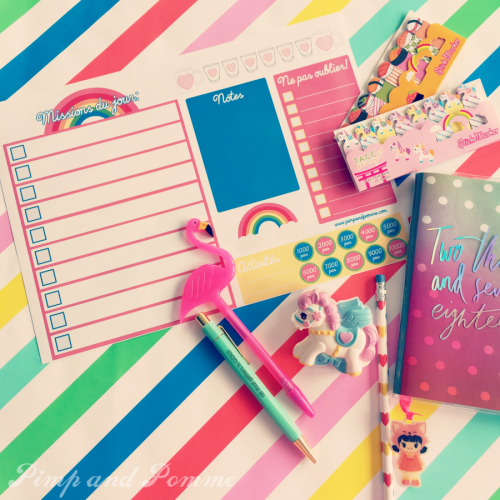 Free-printable-daily-rainbow-planner-organiseur-de-journee-freelance