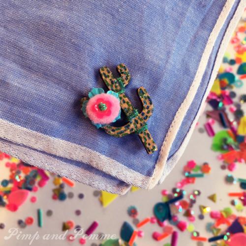 DIY-mouchoirs-cactus-tissus-modpodge-rainbow-merrysquare-paillettes-sequins-henry-henriette