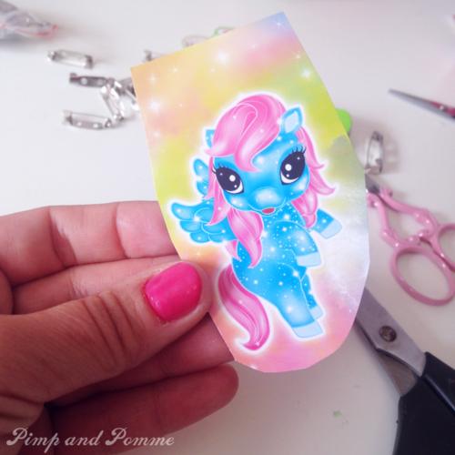 DIY broche licorne packaging Gom-mini i pony dei sogni