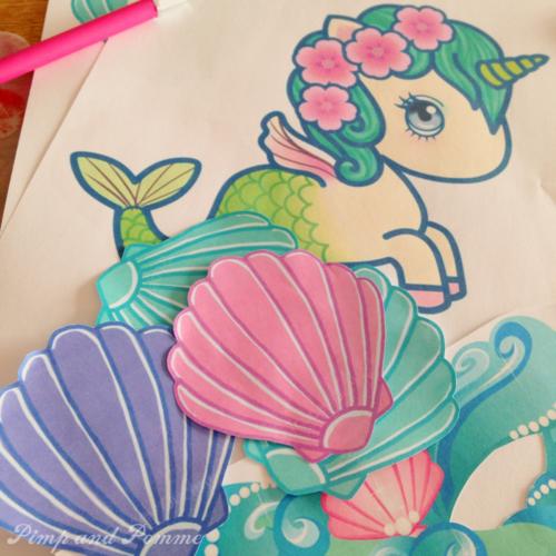 Invitation-Sirène-Magique-DIY-Printable-Tokidoki-Licorne-Sirene-Rainbow-Aquacorn-mermaid-