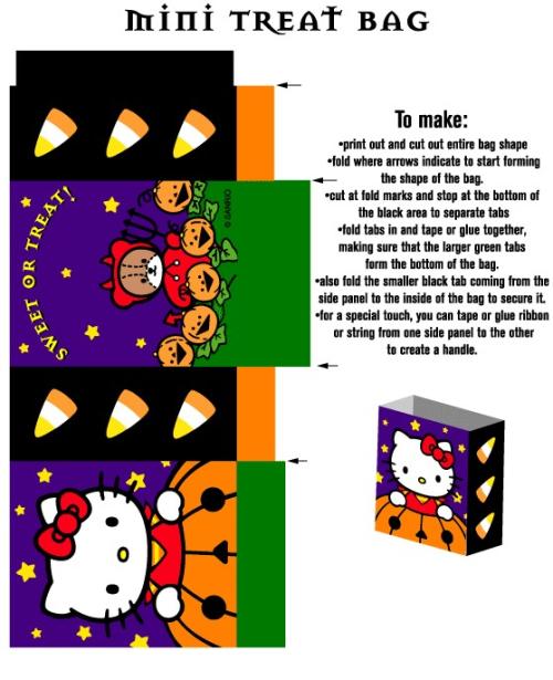 Hello Kitty sacolinha halloween