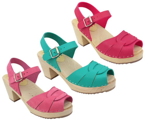 Lotta-clogs-Pink-Aqua-Green