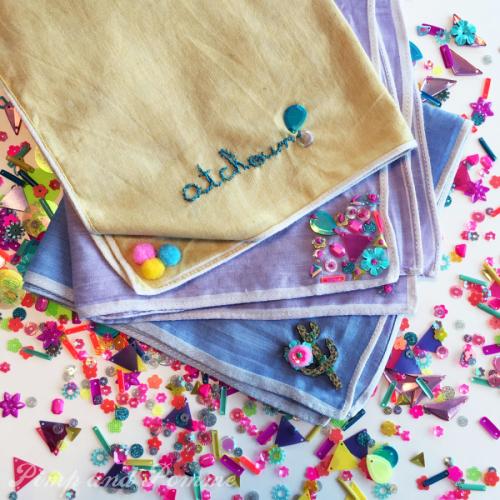 DIY-mouchoirs-tissus-rainbow-merrysquare-paillettes-sequins-henry-henriette