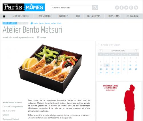 Atelier Bento Matsuri-Paris-Momes