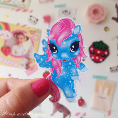 DIY broche les poneys des rêves glitter poney