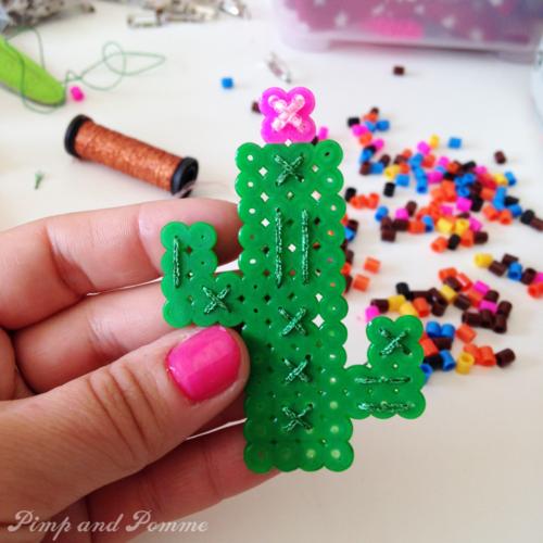 DIY bricolage broche cactus qui brille