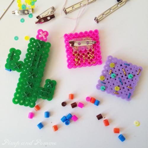 DIY broche cactus perles hama fuse beads