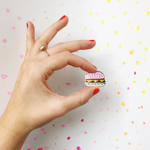 Mini-Pink-Burger-Pin-Badge-Broche-ETSY