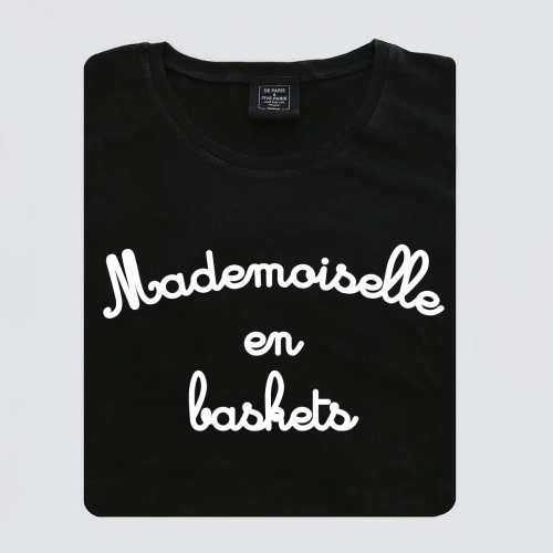 T-shirt-femme-mademoiselle-en-baskets
