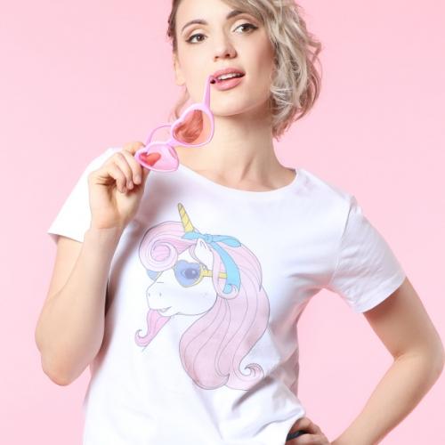 T-shirt-licorne-retro-rose2