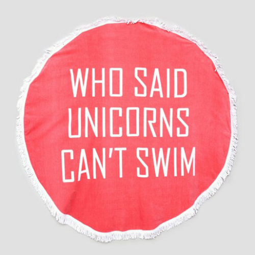 Serviettes-Plage-Unicorns-swim