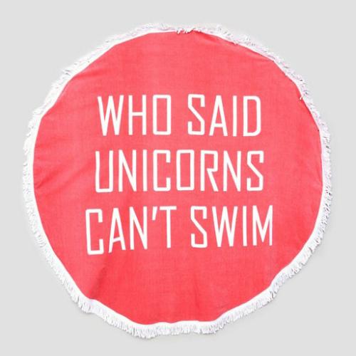 Serviettes-Plage-Unicorns-swim