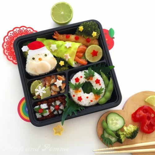 Bento-Kyaraben-Noel-Christmas-Onigiri-Yummy