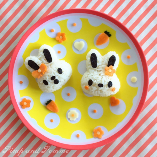 Kawaii-Onigiris-bunny-cute-food