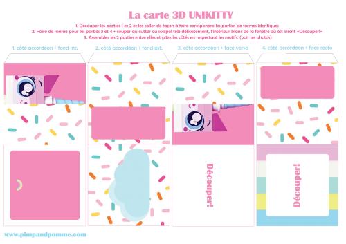 Carte-3D-Unikitty